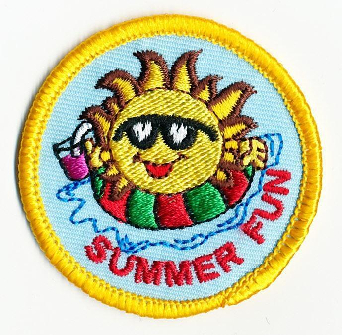 girl boy cub summer fun sun in the patches crests badges