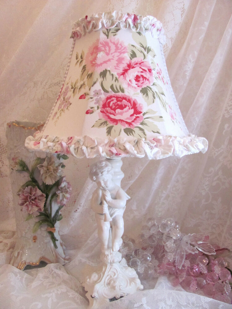7 lamp shade made w shabby chic r ashwell wildflower. Black Bedroom Furniture Sets. Home Design Ideas