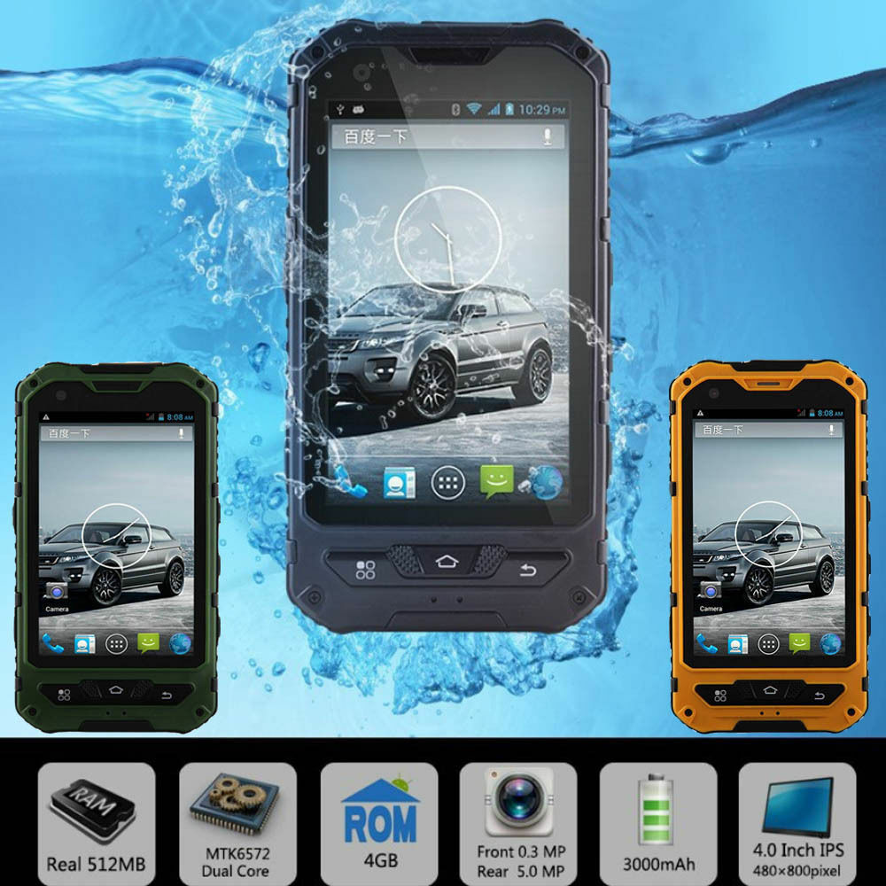 A8 Land Rover Waterproof Quad Core Smartphone Dual Sim