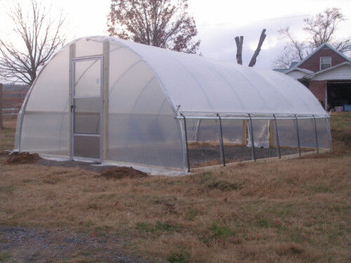 20 x 24 ft quonset greenhouse kit hoop house cold for 60 ft garden design