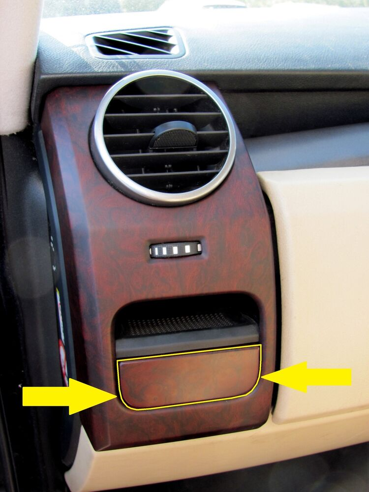 Walnut Dash End Cup Holder Facia For Land Rover Discovery
