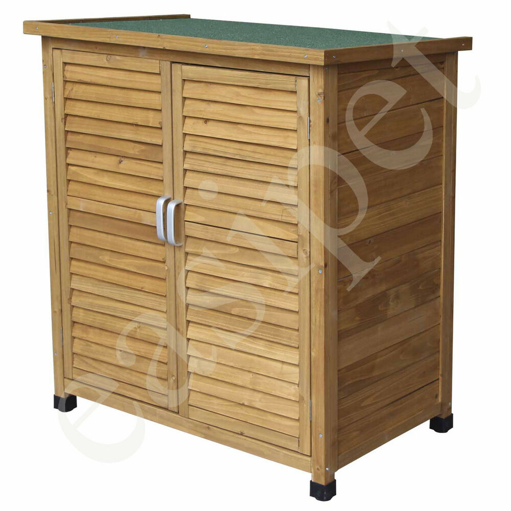 Wood garden shed tool storage lawn mower outdoor wooden for Garden shed for lawn mower