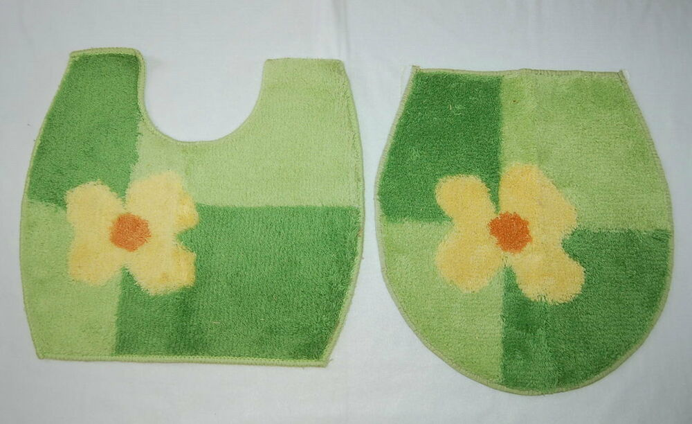 U Shaped Bathroom Rug Amp Toilet Seat Cover Set Yellow