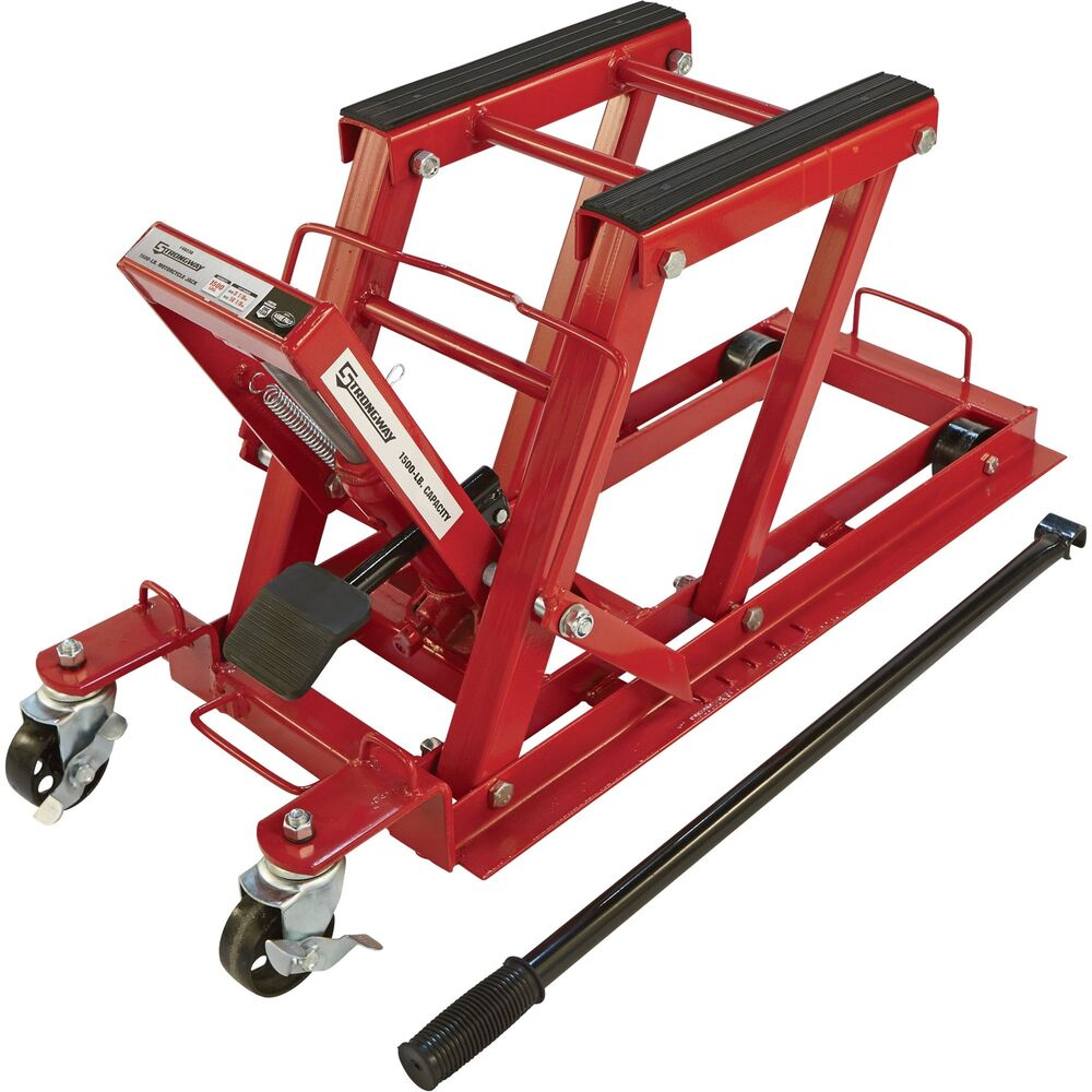 Hydraulic Motorcycle Stand : Strongway hydraulic motorcycle jack utility vehicle lift