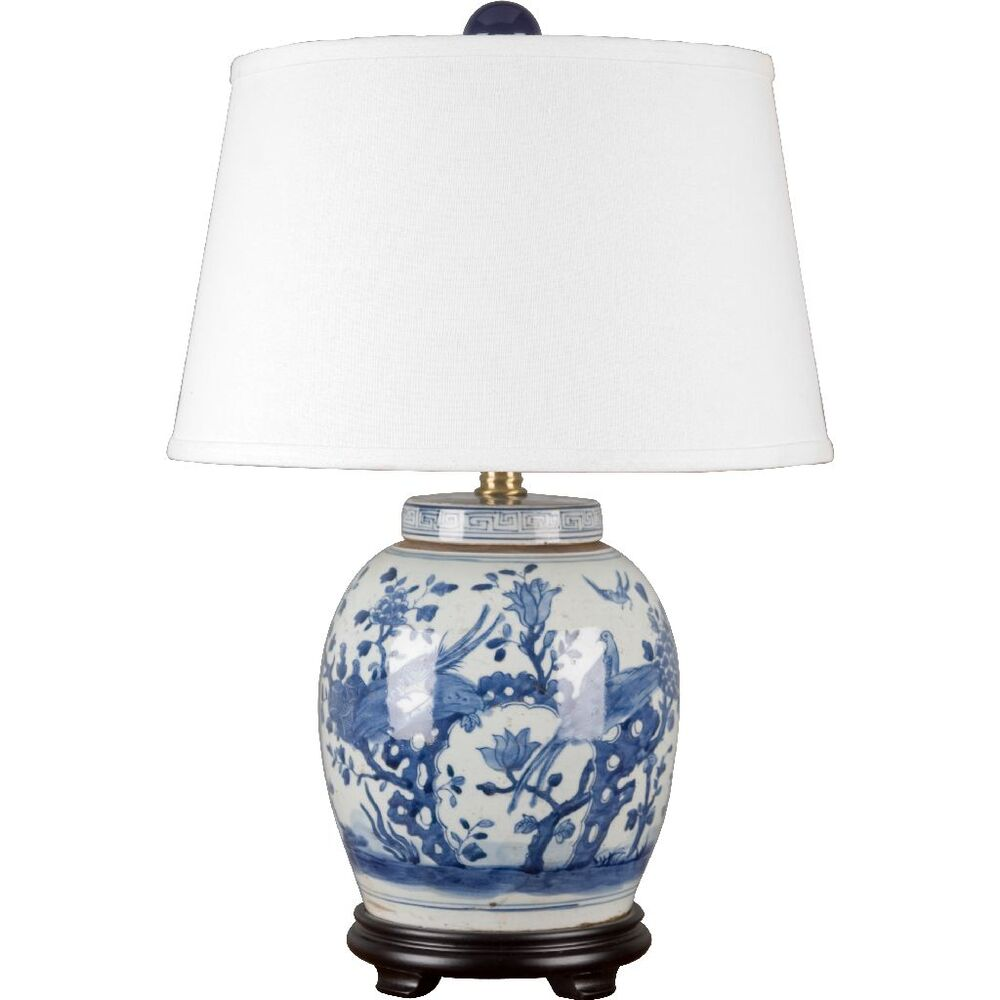 Classic Chinese Blue And White Porcelain Oriental Ginger