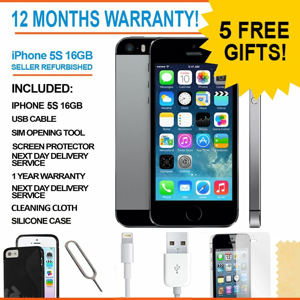 apple iphone 5s 16 gb space grey sim free unlocked. Black Bedroom Furniture Sets. Home Design Ideas