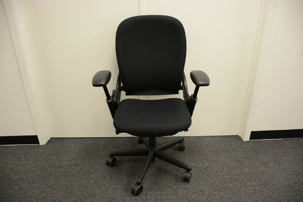 Steelcase leap fabric high back task chair fully loaded - Steelcase leap ergonomic office chair ...
