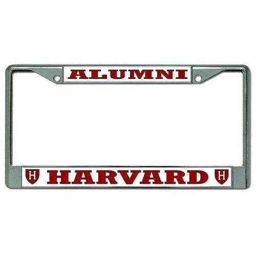 HARVARD ALUMNI METAL CAR CHROME LICENSE PLATE FRAME MADE IN USA | eBay