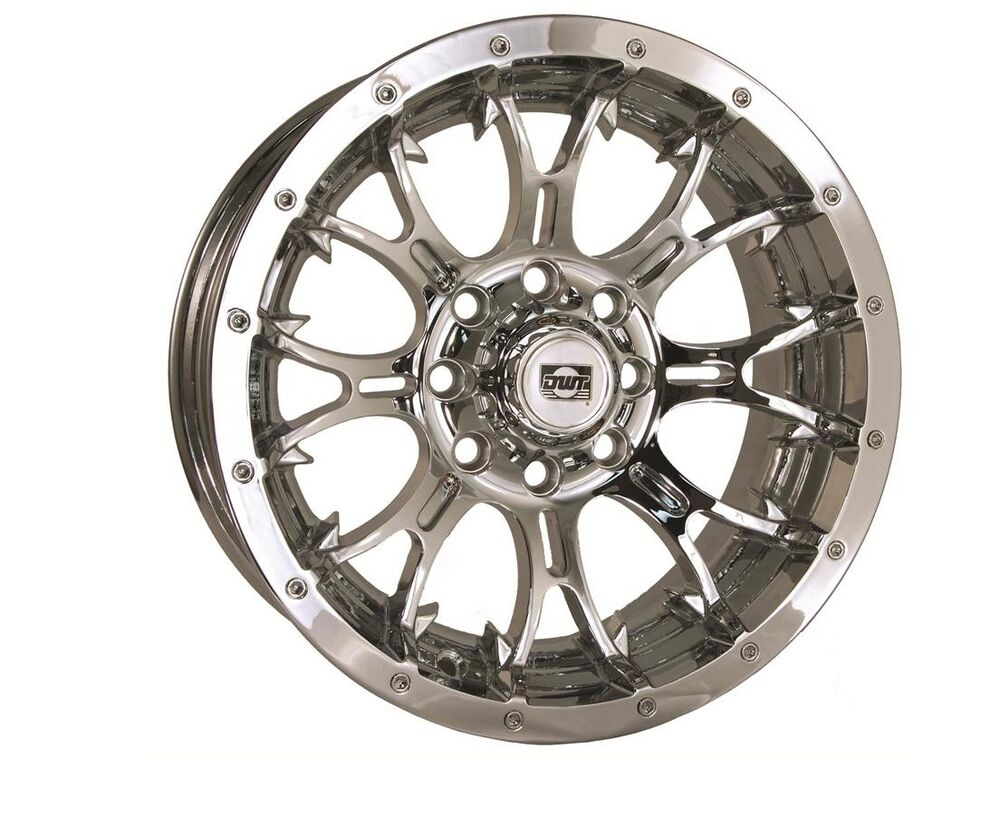 DWT DIABLO FRONT OR REAR WHEEL CHROME 14X6 4+2 4/136 CAN-AM KAWA TERYX 750  | eBay