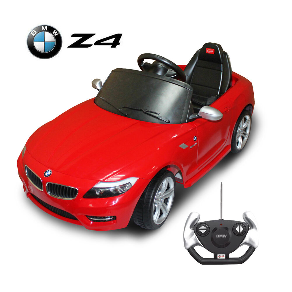 Bmw Z4 Kids Ride On Car Electric Battery Power Wheels Toy Rc Remote Control Red Ebay