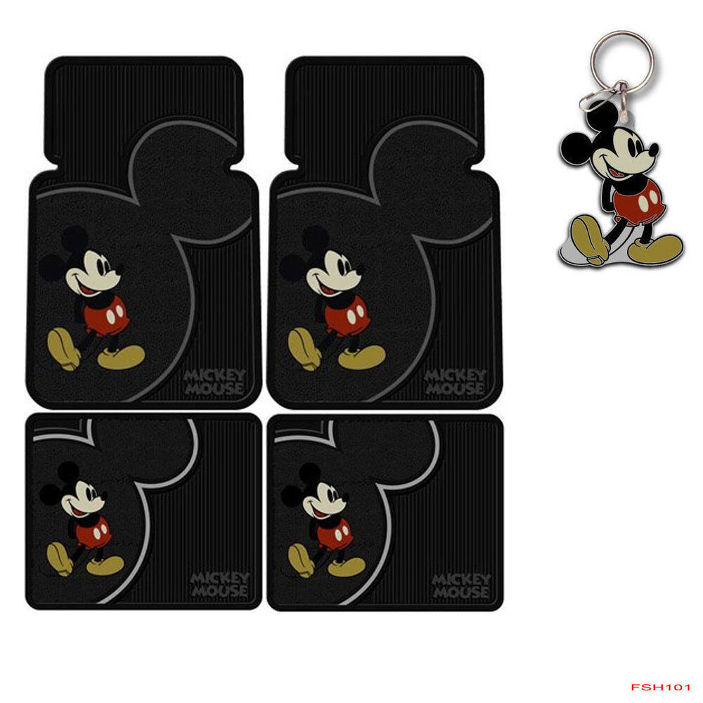 New Disney Mickey Mouse Classic Car Truck Rubber Floor