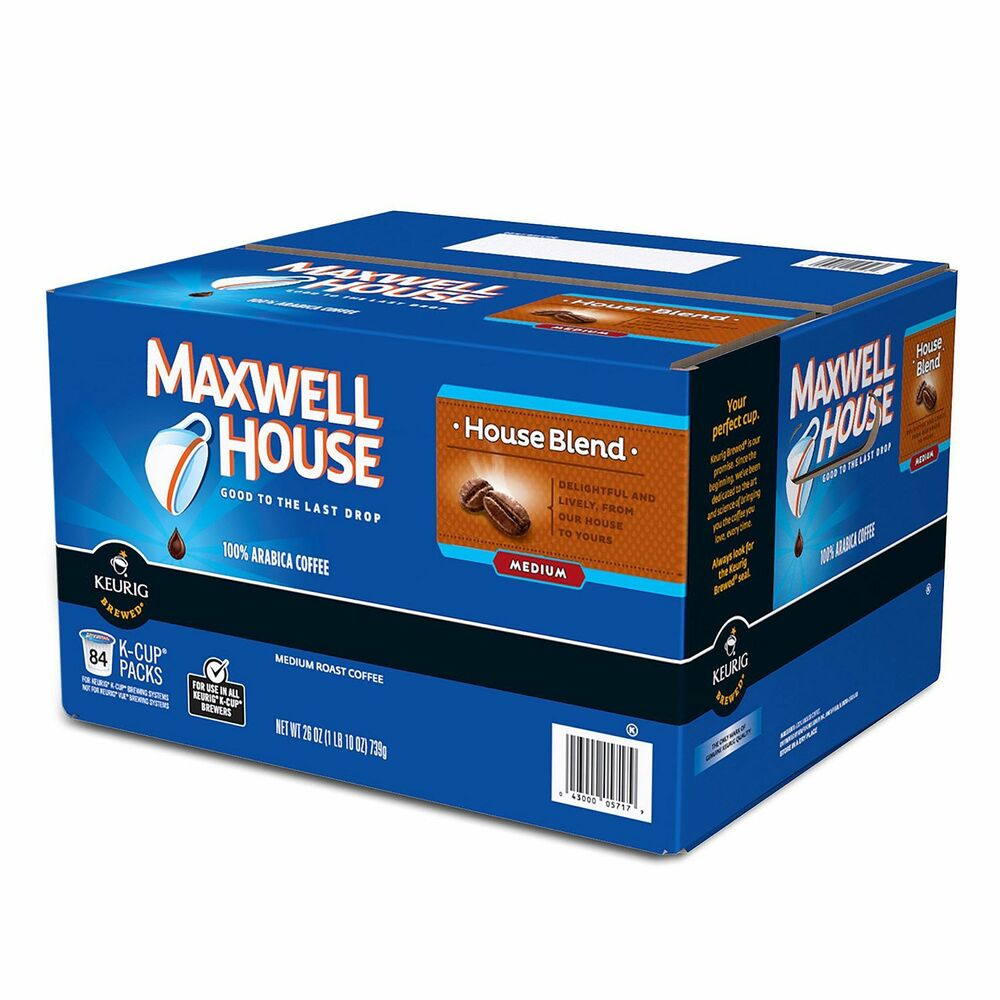 Maxwell House House Blend Coffee K Cups 84 Ct Single