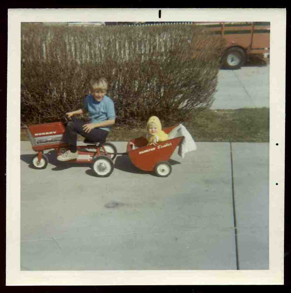 1960 Toys For Boys : Vintage s boy girl on murray toy pedal tractor