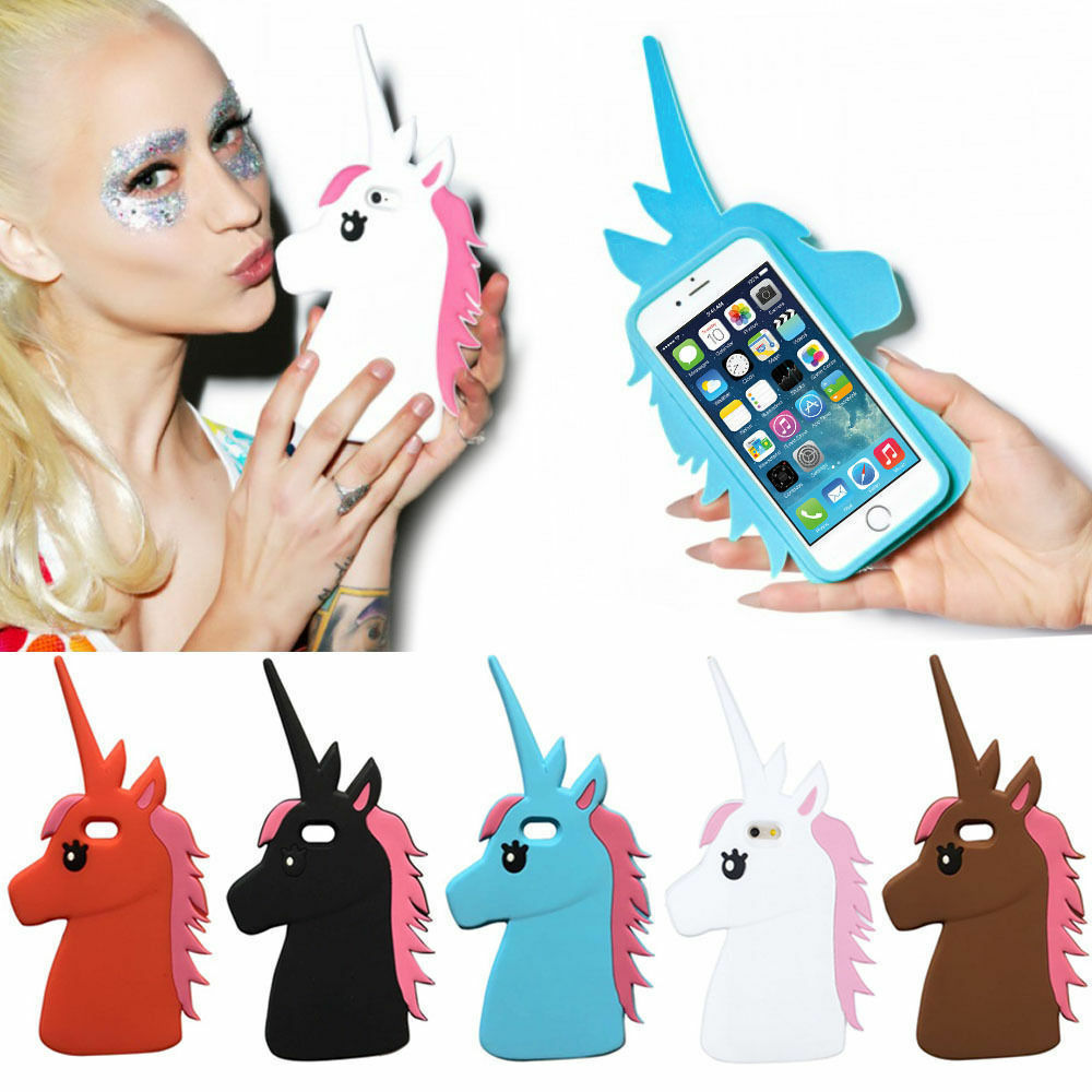 3D Cute Unicorn Cartoon Horse Rubber Soft Case Cover for iPhone 4 5 6 6S Samsung eBay