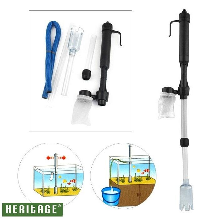 Battery gravel vacuum cleaner aquarium fish tank cleaning for Fish tank vacuum