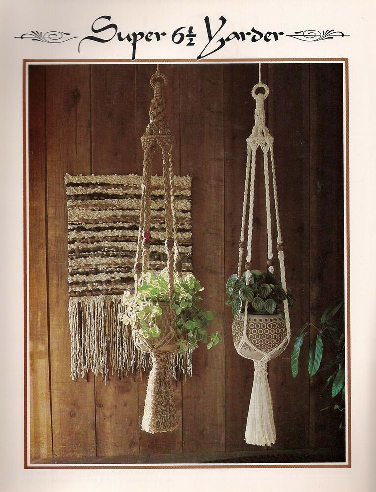 macrame plant hanger pattern books simple macrame plant hanger pattern book only z07 5076