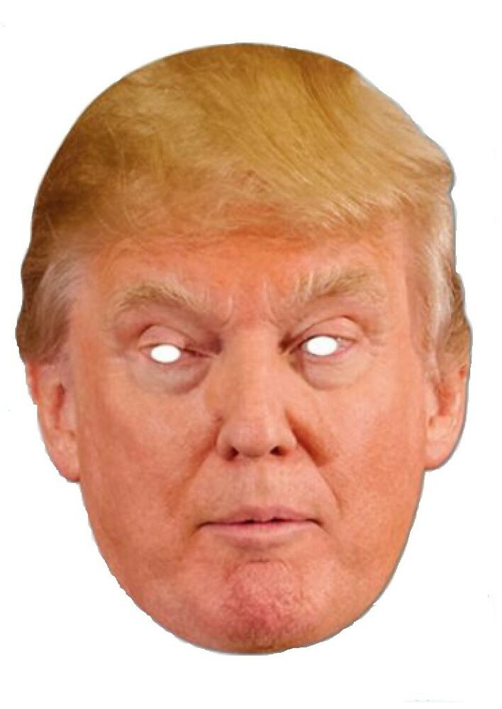 Donald Trump Mask Halloween President Candidate Poster Paper Face Mask ...