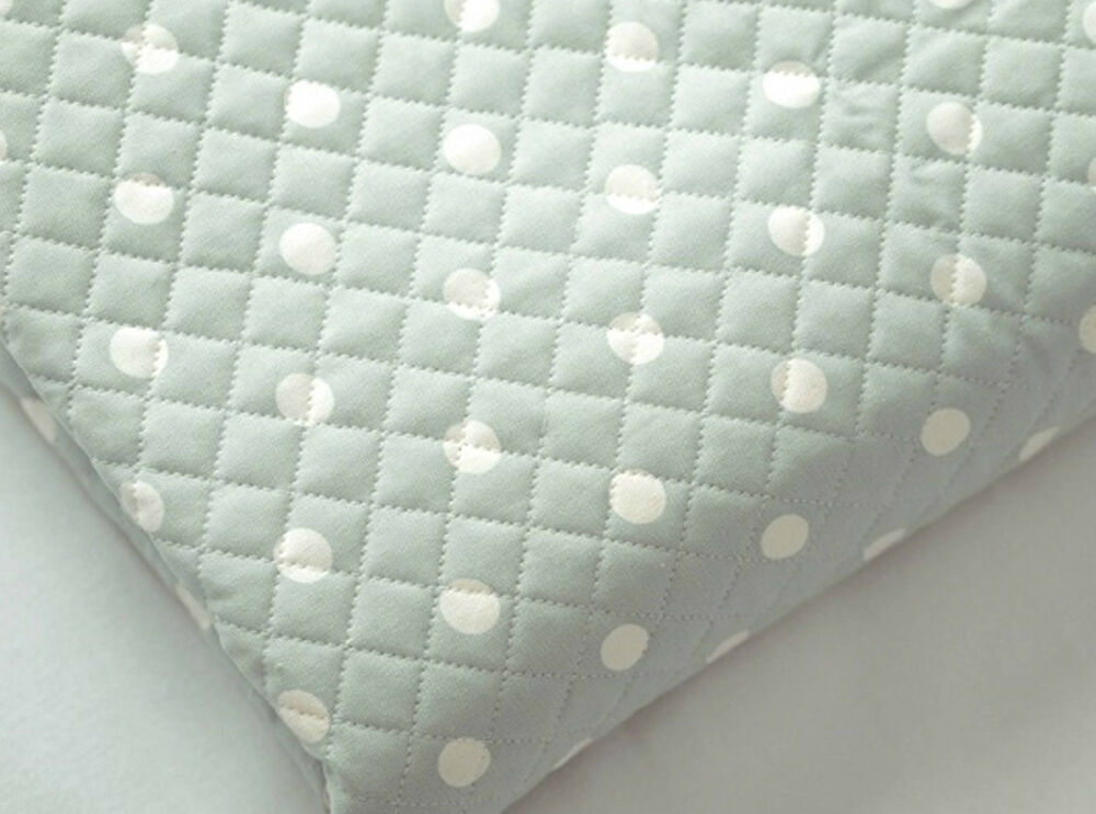 14mm Mint Back Dots Ready Quilted Fabric Cotton Pre