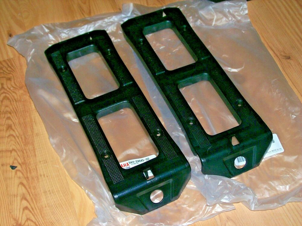 Yamaha Grizzly 660 >> YAMAHA GRIZZLY 660 FRONT RACK, CARRIER TOP BLACK PLASTIC COVERS 2002-08   eBay