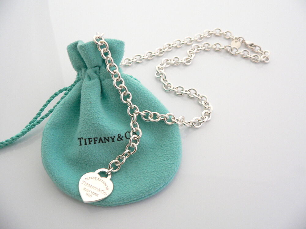 tiffany co return to tiffany heart tag dangle necklace