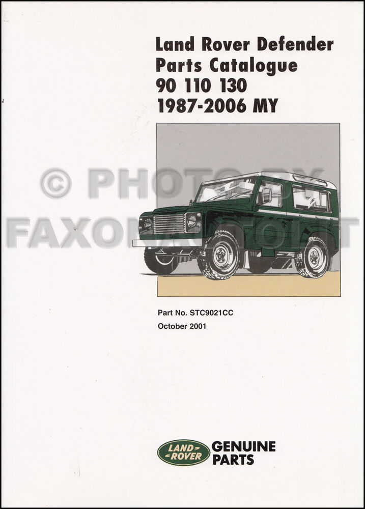 1987 2006 Land Rover Defender Parts Book 90 110 130 Part