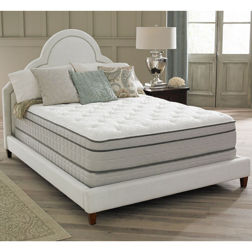 spring air premium collection antoinette pillow top king size mattress set ebay. Black Bedroom Furniture Sets. Home Design Ideas