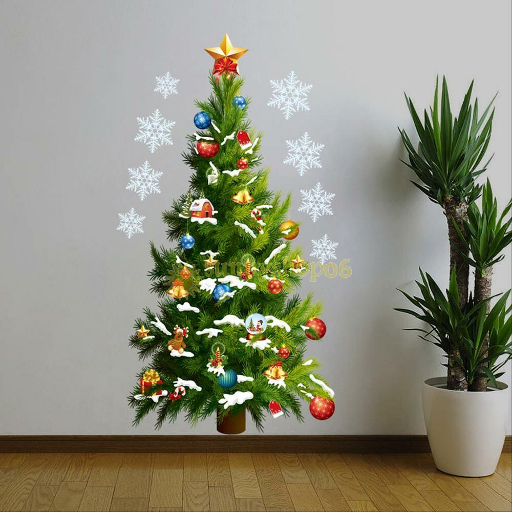 Christmas Decor For Large Wall : Large christmas tree wall stickers window decal mural