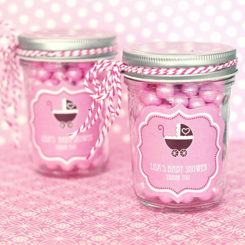 personalized pink baby theme mini mason jars baby shower favors ebay