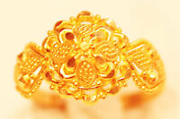 22k solid   gold handmade ring from India #a3a