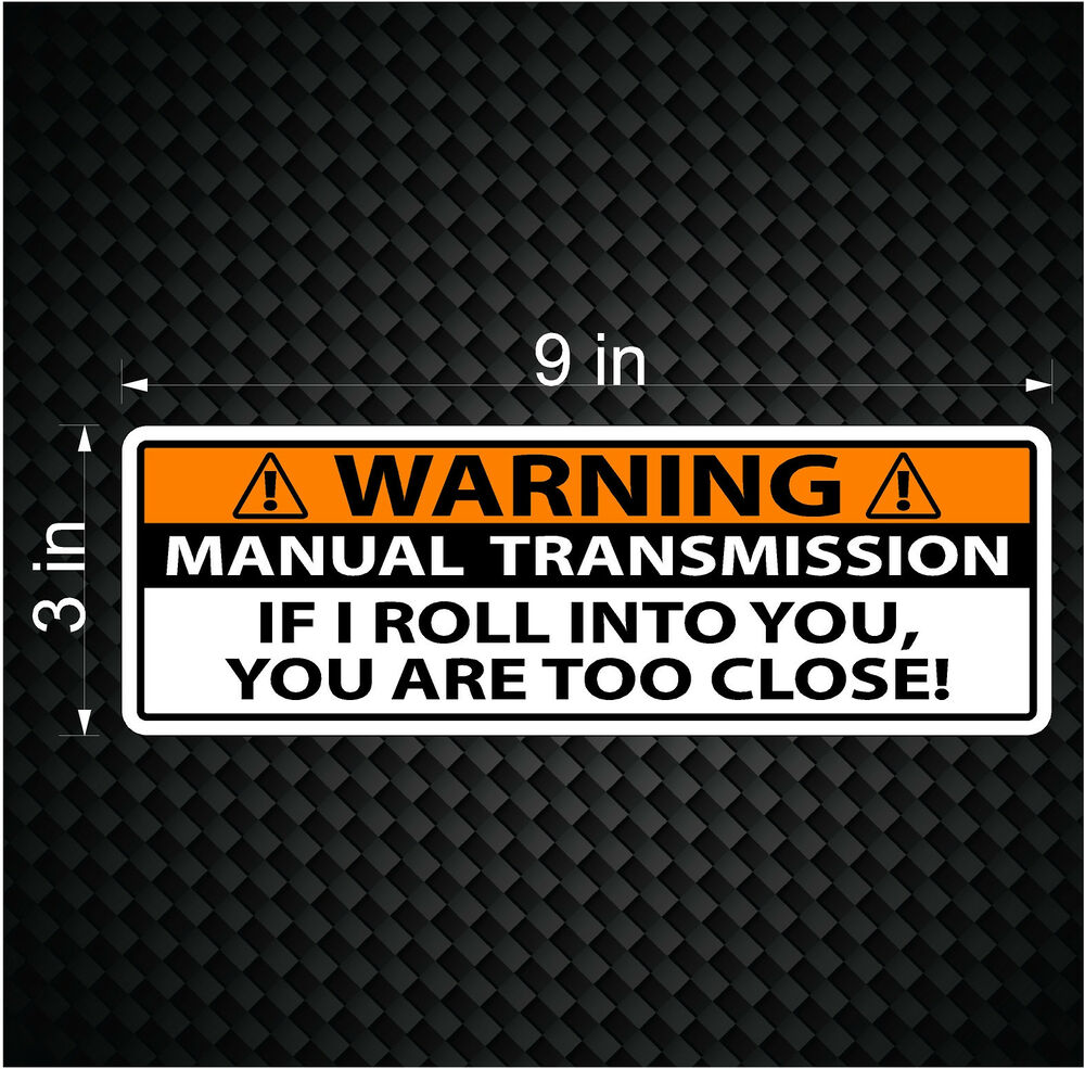Save The Manuals Vinyl Decal Sticker For Car Or Truck Manual Guide