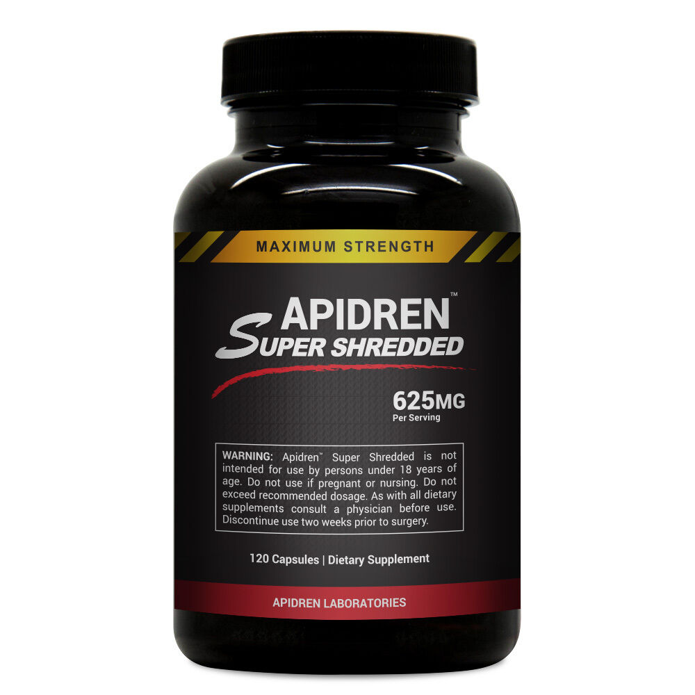 Apidren Super Shredded - Hardcore Diet Pills for Fast ...
