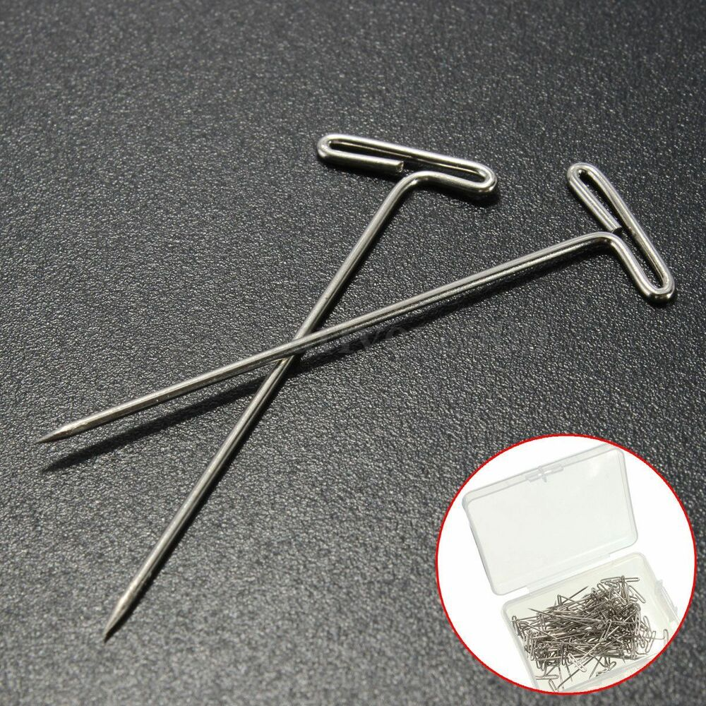 Long Pins: 50x Metal 38mm Long T Pins Pack For Modelling Macrame Wigs