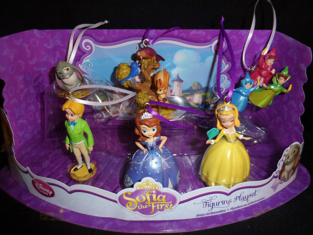 disney authentic sofia the first christmas ornament 6pc