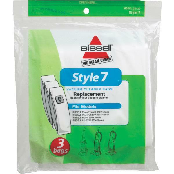 3 Pack Bissell Style Quot 7 Quot Vacuum Bags For Powerforce