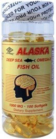 Purified alaska deep sea fish oil omega 3 100 softgels for Alaska deep sea fish oil