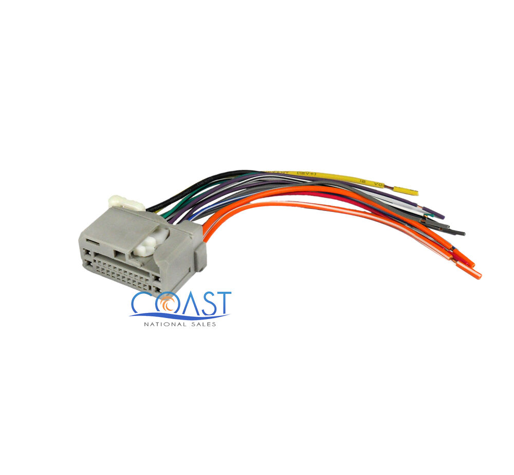 aftermarket car radio wiring harness to factory radio for