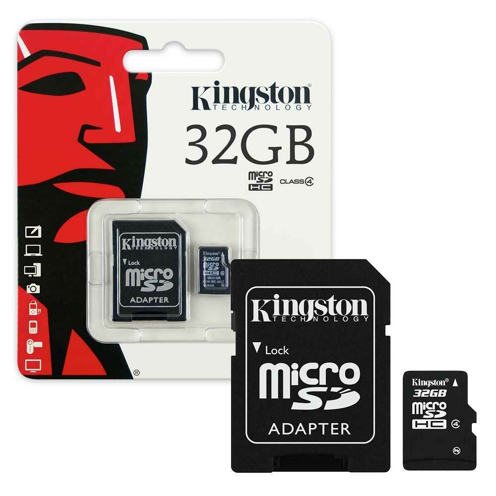 32gb new kingston micro sd sdhc memory card class 4 with sd card adapter 32gb 740617175011 ebay. Black Bedroom Furniture Sets. Home Design Ideas