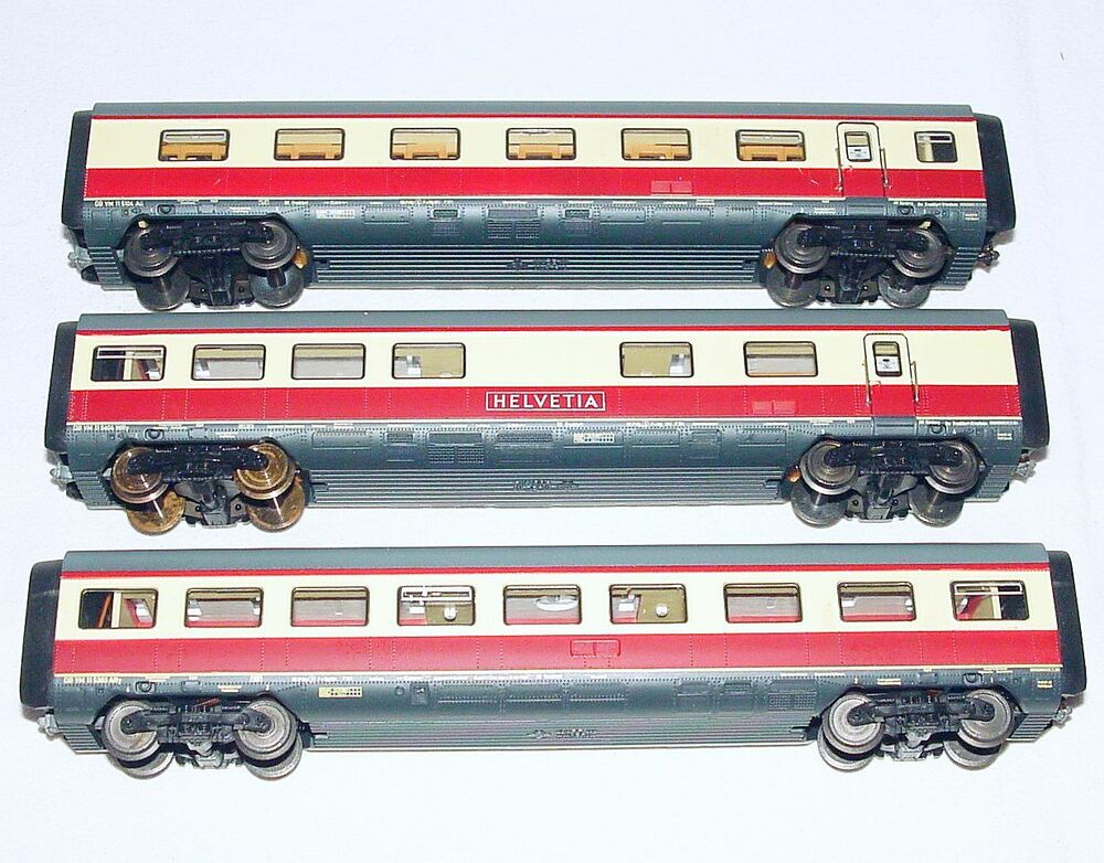 roco ho 1 87 german db vt 11 5 tee helvetia passenger wagon extention set mint ebay. Black Bedroom Furniture Sets. Home Design Ideas