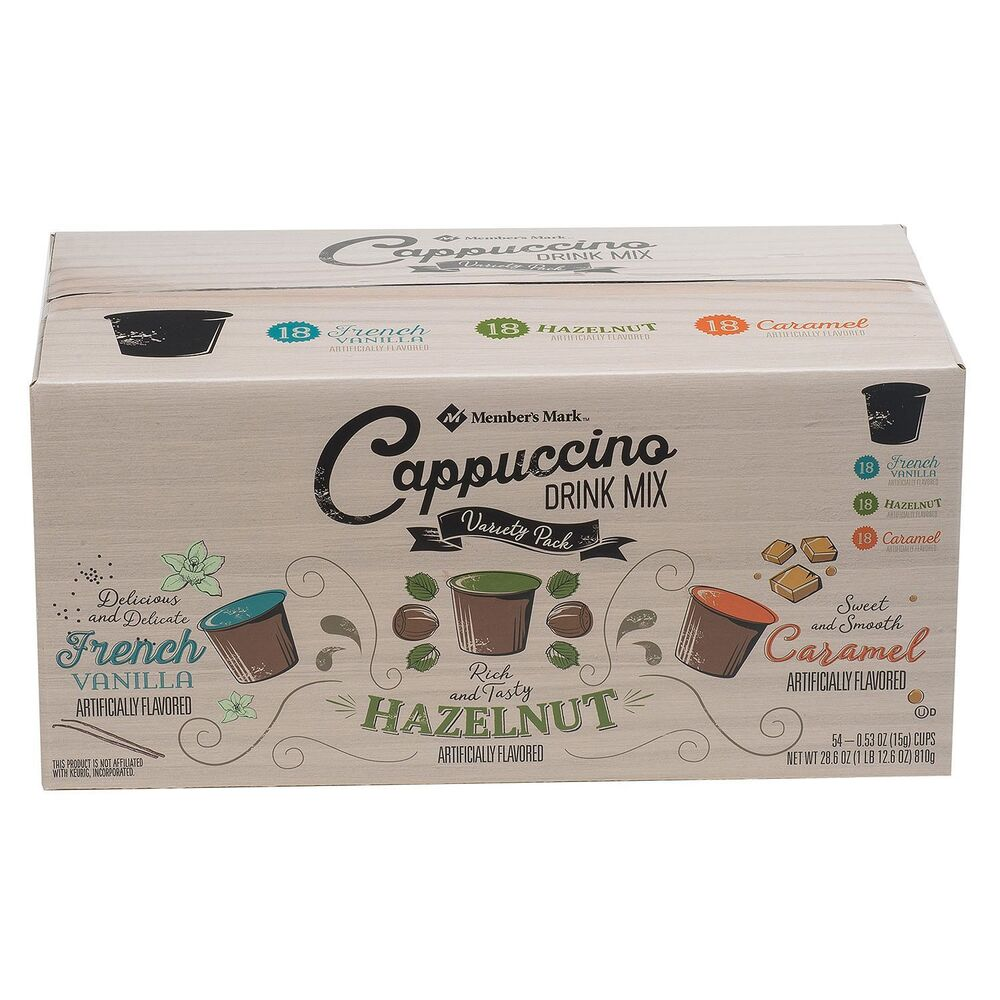 Daily Chef Cappuccino Variety Pack 72 K Cups French