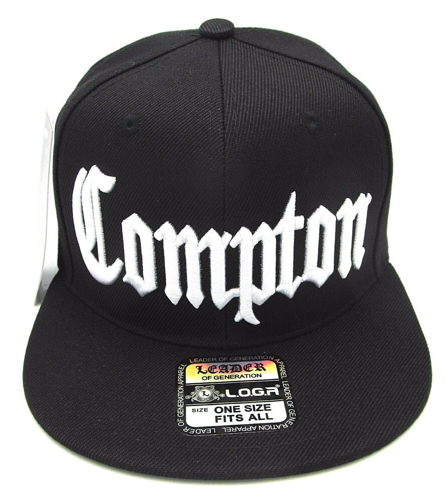94b9c4dac90 Details about COMPTON Snapback Hat South Central Los Angeles City Cap Black  OSFM NWT