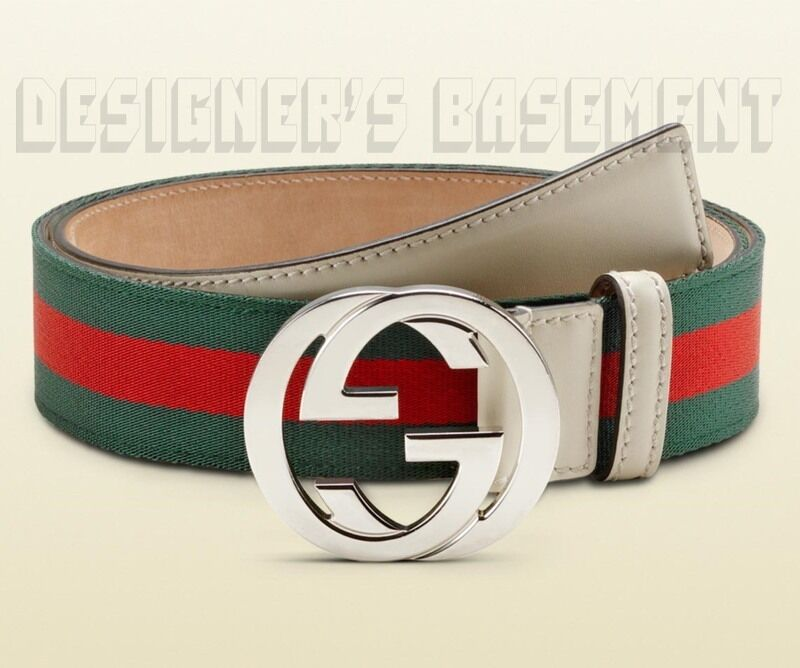 Gucci Green Red Stripe 36 Ribbon Amp Leather Interlocking ...