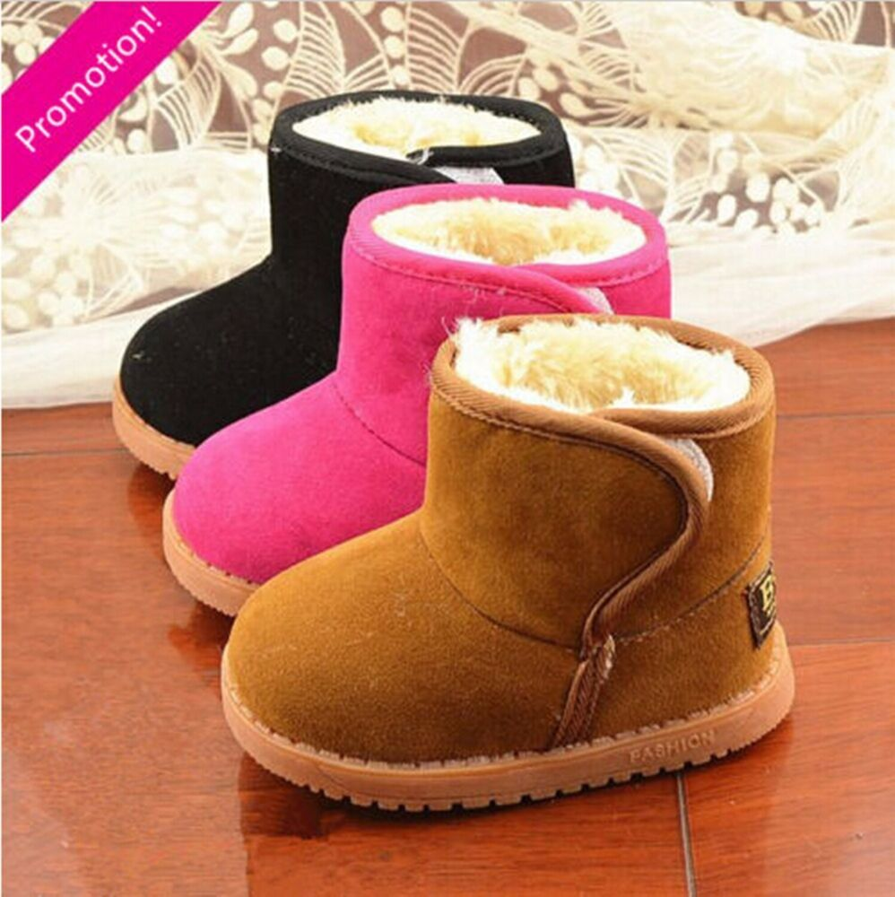 New Infant Toddler Baby Girls Boots Boys Kids Winter Thick ...