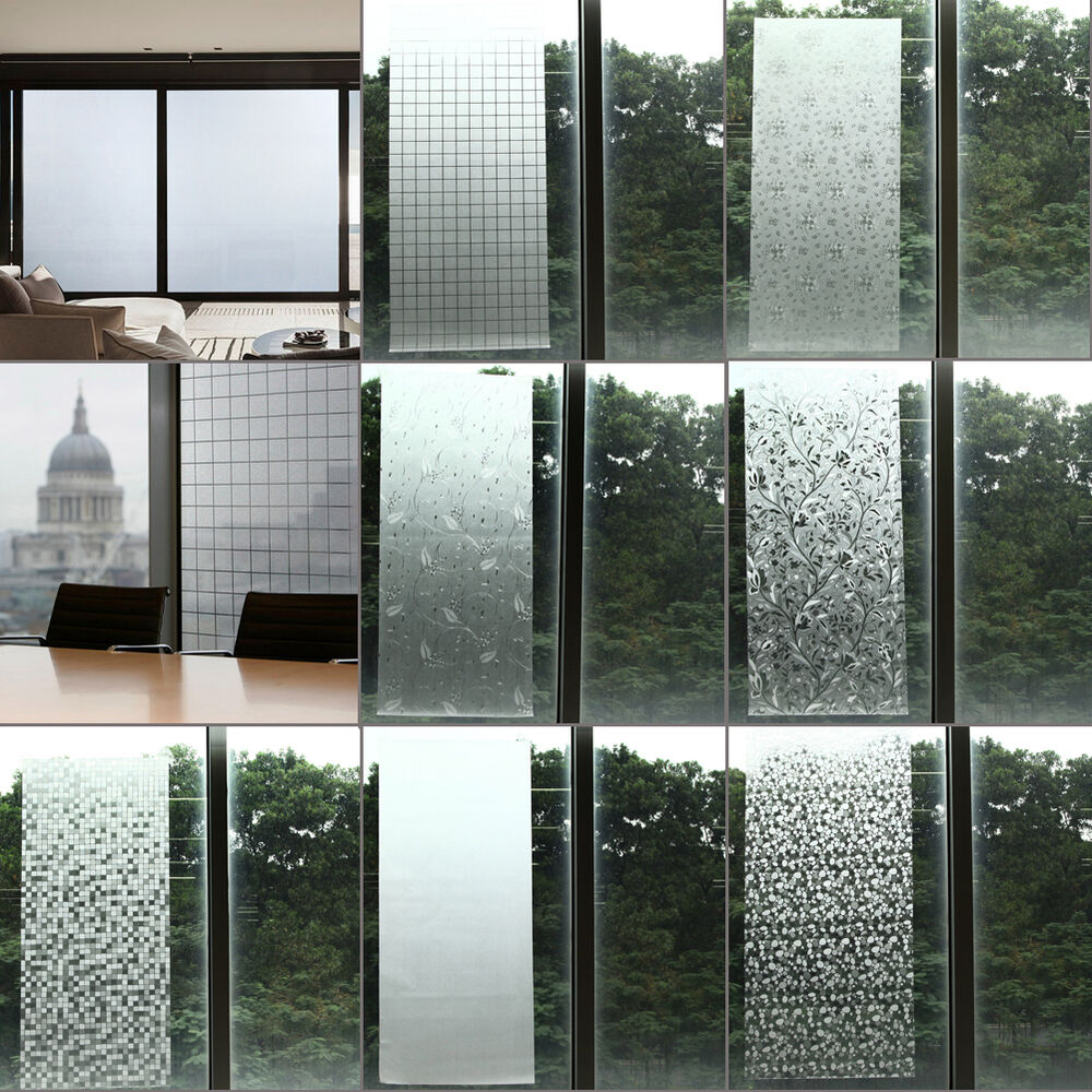 Waterproof Frosted Privacy Bedroom Bathroom Window Glass