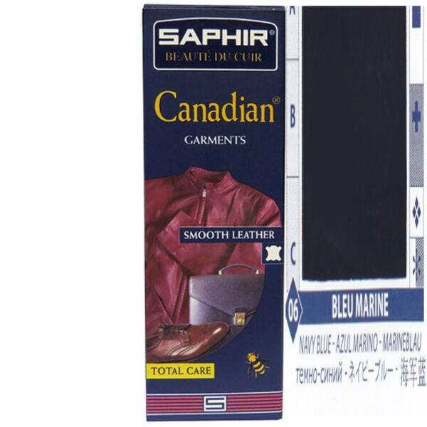 CREME RECONSTITUANTE CANADIAN SAPHIRCUIR VETEMENTS TUBE 75 ML BLEU MARINE 06