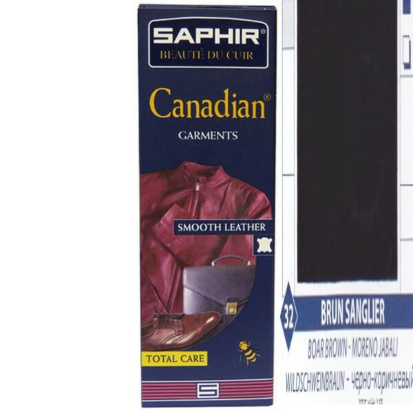 CREME RECONSTITUANTE CANADIAN SAPHIRCUIR VETEMENTS TUBE 75 ML BRUN SANGLIER 32