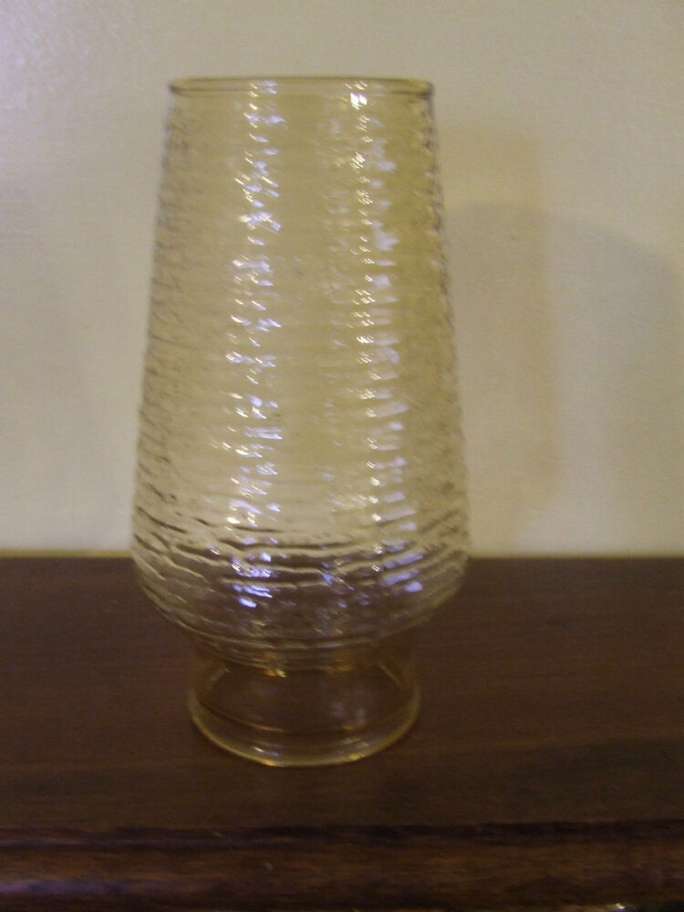 Vintage Oil Lamp Chimney Shade Anchor Hocking Soreno Gold