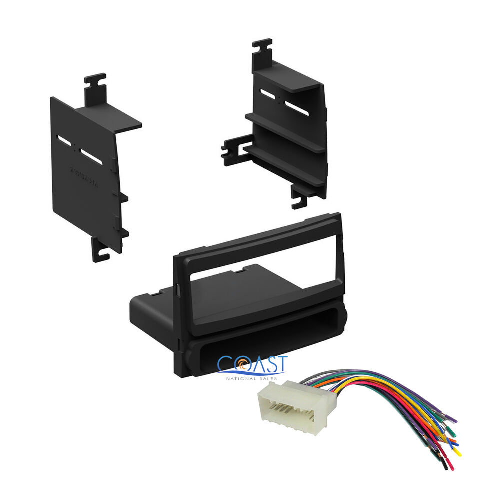 Single Din Radio Stereo Dash Kit W   Wire Harness For 2007