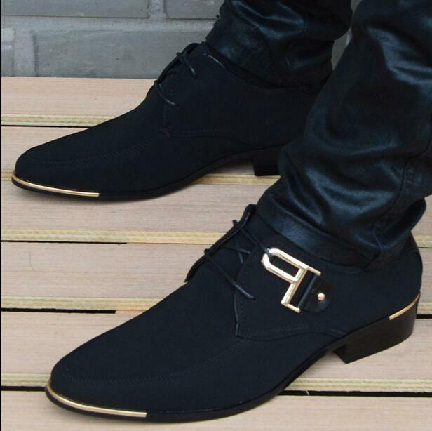 mens korean style cloth casual shoes fashion pointed toe