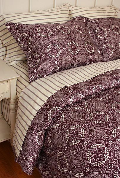 King Duvet Comforter Cover Set Talavera Plum Purple