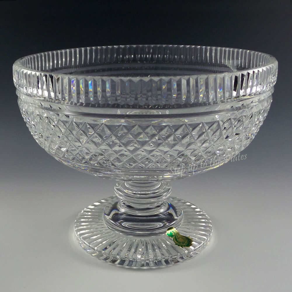 Waterford crystal footed bowl compote centerpiece earlier piece complex pattern ebay - Footed bowl centerpiece ...